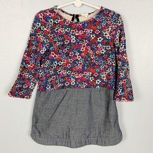 BabyGap Floral & Denim Dress